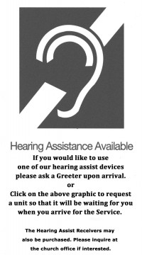 Hearing Assist Available